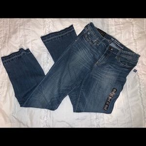 NWT Gap baby boot cut jeans with raw hem